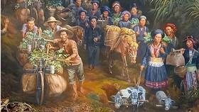 """Bức tranh tròn """"Điện Biên Phủ"""": Dấu ấn mới của mỹ thuật Việt"""