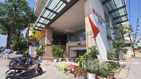 Khách sạn Phú An ghi nhận có bệnh nhân mắc Covid-19. Ảnh: TTXVN