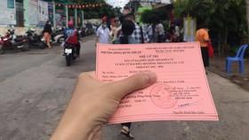 Thẻ cử tri của một bạn trẻ tại TPHCM