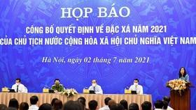 Họp báo công bố quyết định về đặc xá năm 2021 của Chủ tịch nước Cộng hòa Xã hội chủ nghĩa Việt Nam sáng 2-7 vừa qua