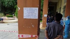 Lời nhắn đáng yêu ở điểm tiêm ngừa thuộc phường Phú Thạnh, quận Tân Phú, TPHCM