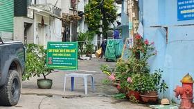 """Chốt """"bảo vệ vùng xanh"""" ở hẻm 5/49 Nơ Trang Long,  (quận Bình Thạnh) được người dân tự quản"""