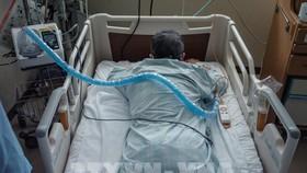 Bệnh nhân Covid-19 được điều trị tại bệnh viện ở Sapporo, Nhật Bản, ngày 3-8-2021. Ảnh: AFP/ TTXVN