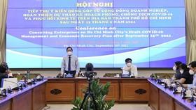 Chủ tịch UBND TPHCM Phan  Văn Mãi phát biểu tại hội nghị. Ảnh: TTBC