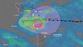 Sáng 14-10, bão số 8 vào vùng biển từ Nam Định đến Quảng Bình