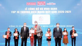 Đại diện Masterise Homes tại lễ công bố và vinh danh Thương hiệu Mạnh Việt Nam 2021