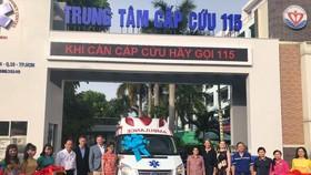 Bàn giao xe cứu thương và thiết bị y tế cho Trung tâm Cấp cứu 115 TPHCM
