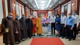Ban Trị sự Giáo hội Phật giáo Việt Nam TPHCM thăm, chúc tết Thường trực Thành ủy TPHCM