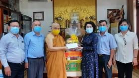 Lãnh đạo TPHCM thăm, chúc mừng Đại lễ Phật đản, Phật lịch 2565, dương lịch 2021