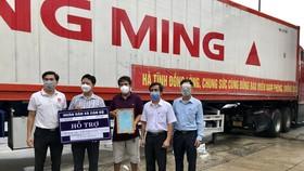 Tiếp nhận 18 container hàng hóa thiết yếu từ tỉnh Hà Tĩnh hỗ trợ TPHCM