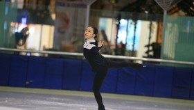 Trần Khánh Linh đã có 7 năm khổ luyện với trượt băng nghệ thuật. Ảnh: NGUYỄN ANH