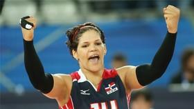 Nữ VĐV bóng chuyền Prisilla Rivera sẽ là một trong hai đại diện cầm cờ cho đoàn thể thao Cộng hòa Dominica