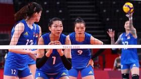 Đội tuyển bóng chuyền nữ Trung Quốc nhận trận thua thứ 2 tại Olympic Tokyo 2020
