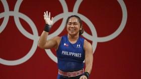 Nhà vô địch cử tạ Olympic Hidilyn Diaz đang tập trung chuẩn bị cho Giải vô địch thế giới diễn ra vào cuối năm nay. Ảnh: AFP