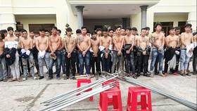 Các đối tượng bị bắt giữ vào chiều 29-9