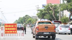 Điểm kiểm soát y tế phòng chống dịch Covid-19 tỉnh Quảng NAm thiết lập tại DT607 giáp với TP Đà Nẵng