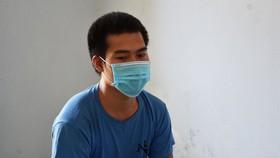 Đối tượng Nguyễn Minh Tiến tại cơ quan công an
