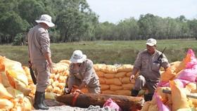 Quả bom MK82 người dân phát hiện được hủy nổ an toàn tại bãi hủy nổ tập trung