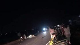 Xe máy tông bò thả rông trên quốc lộ, 2 người thương vong