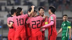 Son Heung-min cùng Hàn Quốc khép lại vòng loại thứ 2 World Cup 2022 với ngôi đầu bảng H. Ảnh: FIFA