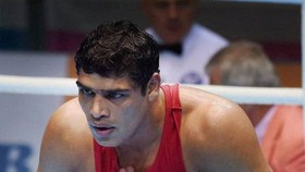 Tay đấm Satish Kumar đã đánh bại Covid-19 trong thời gian chuẩn bị cho Olympic Tokyo 2020. Ảnh: PTI.