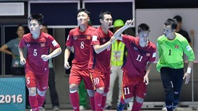 Đội tuyển futsal Việt Nam tại World Cup 2016. Ảnh: ANH TRẦN