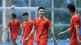 Nguyễn Thịnh Phát đang tập luyện cùng đội tuyển futsal Việt Nam chuẩn bị cho World Cup 2021