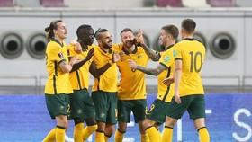 Australia có 3 điểm ở trận ra quân thuộc vòng loại cuối cùng World Cup 2022. Ảnh: GETTY IMAGES
