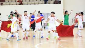Đội tuyển futsal Việt Nam có lần thứ 2 liên tiếp dự FIFA Futsal World Cup. Ảnh: FIFA