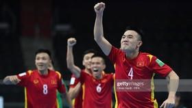 Đội tuyển futsal Việt Nam đã giành quyền vào vòng 1/8 World Cup 2021. Ảnh: GETTY