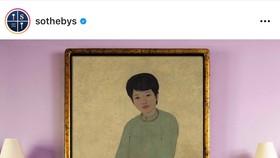 """Bức tranh """"Chân dung cô Phương"""" của danh hoạ Mai Trung Thứ được gõ búa hơn 3 triệu USD"""