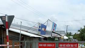 Một khu vực phong tỏa ở thị xã Long Mỹ, tỉnh Hậu Giang