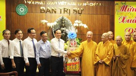 Lãnh đạo TPHCM thăm, chúc tết Ban Trị sự Giáo hội Phật giáo Việt Nam TPHCM và các hòa thượng