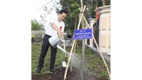 Huyện Nhà Bè trồng hơn 2.300 cây xanh mừng sinh nhật Bác
