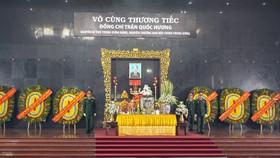 Lễ truy điệu đồng chí Trần Quốc Hương, nguyên Bí thư Trung ương Đảng, nguyên Trưởng Ban Nội chính Trung ương. Ảnh: HOÀNG HÙNG