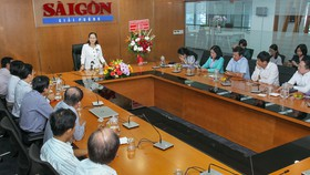 Lãnh đạo TPHCM thăm Báo SGGP và các cơ quan báo chí
