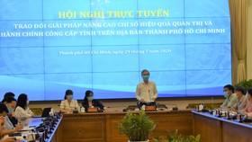 Hội nghị trực tuyến do Phó Chủ tịch UBND TP Ngô Minh Châu chủ trì
