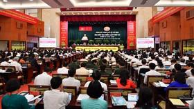 Quang cảnh Đại hội đại biểu Đảng bộ TPHCM lần thứ XI họp phiên trù bị. Ảnh: VIỆT DŨNG