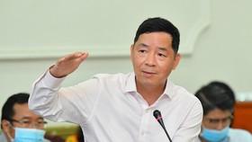 TS Vũ Thành Tự Anh phát biểu tại một hội thảo khoa học do TPHCM tổ chức, tháng 5-2021. Ảnh: VIỆT DŨNG