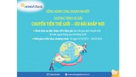 DongA Bank ưu đãi lớn về chuyển tiền quốc tế
