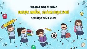 Những đối tượng được miễn, giảm học phí năm học 2020-2021