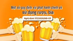 Một số quy định xử phạt hành chính về sử dụng rượu, bia