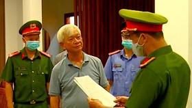Ông Nguyễn Chiến Thắng, Cựu Chủ tịch UBND tỉnh Khánh Hòa lúc bị bắt. Ảnh: QUỲNH ANH