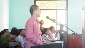 Bị cáo Hồ Minh Khiêm trước toà
