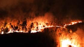 Hơn 2 ngày chiến đấu cật lực với lửa lớn ở núi Kỳ Lễ