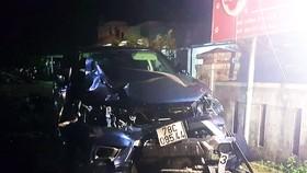 Ô tô bán tải tông liên hoàn, 4 người chết, 3 người nguy kịch