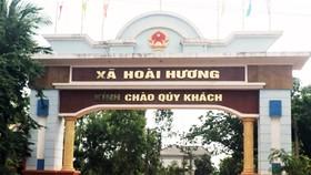 Xã Hoài Hương nơi đang xảy ra vụ vỡ hụi lớn liên quan đến hàng trăm người dân