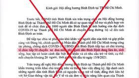 Công an đang điều tra kẻ giả mạo văn bản của UBND tỉnh Bình Định