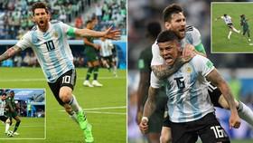 Bảng D, Nigeria - Argentina 1-2: Messi đã thông nòng, Rojo kịp cứu nguy phút 86