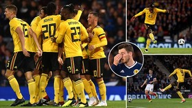 Giao hữu, Scotland - Bỉ 0-4: Lukaku, Hazard, Batshuayi mang về chiến thắng 4 sao